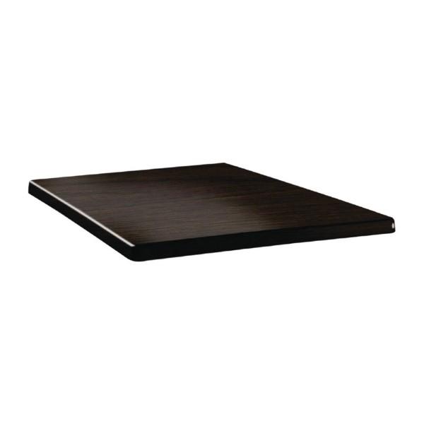Topalit Classic Line vierkant tafelblad wengé 80cm