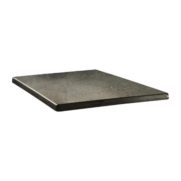 Topalit Classic Line vierkant tafelblad beton 70cm