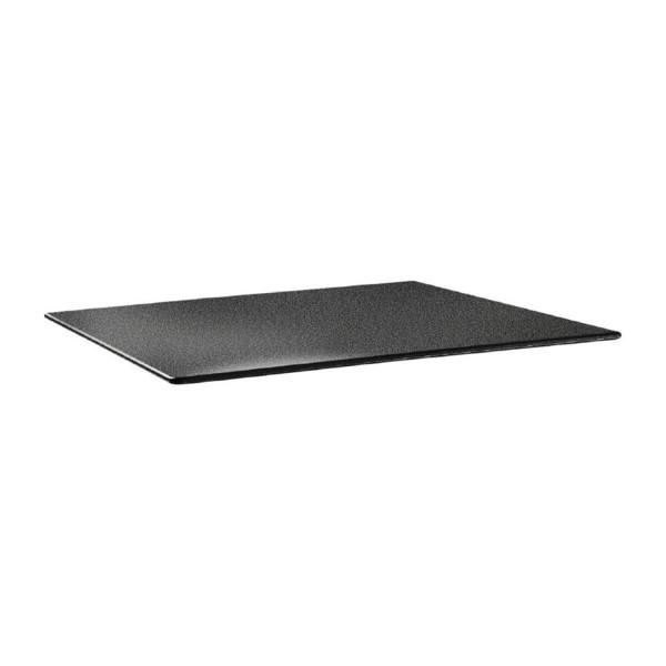 Topalit Smartline rechthoekig tafelblad antraciet 120x80cm