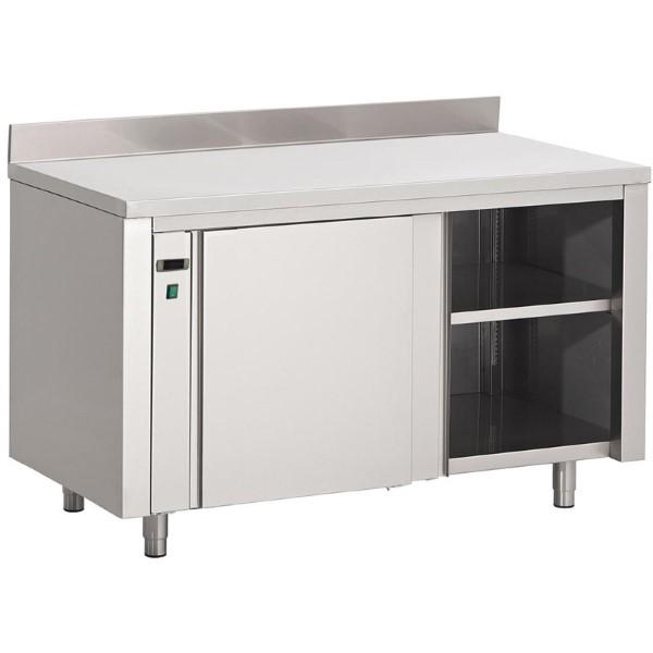 Gastro M RVS warmhoudkast met achteropstand 85x200x70cm