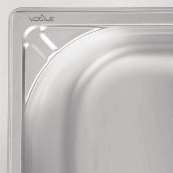 Vogue RVS GN 1/1 bak 150mm