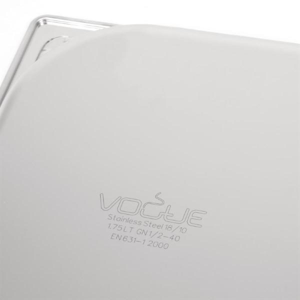 Vogue RVS GN 1/2 bak 40mm