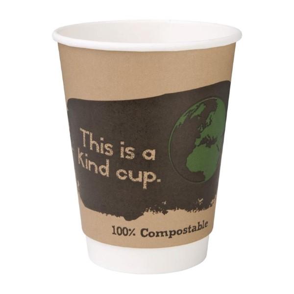 Fiesta Green 25 composteerbare dubbelwandige koffiebekers 35,5cl