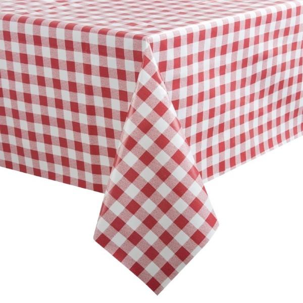 PVC tafelkleed rood/wit 89x89cm