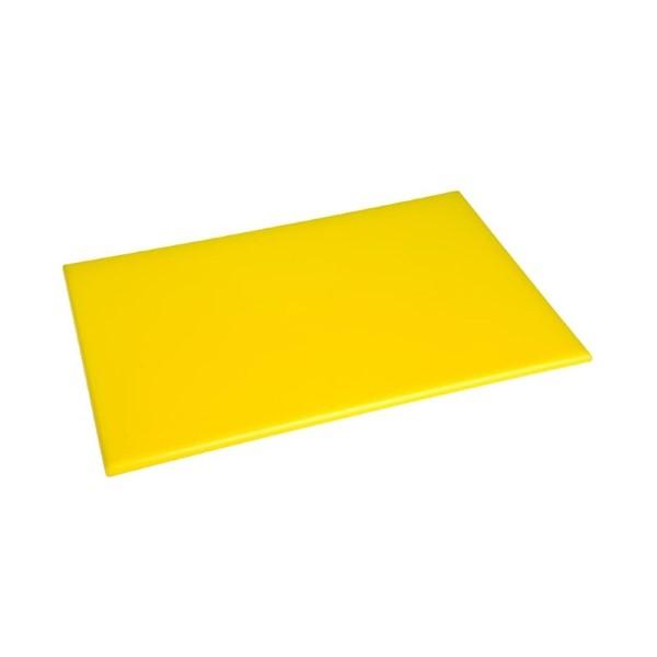 Hygiplas antibacteriële HDPE snijplank geel