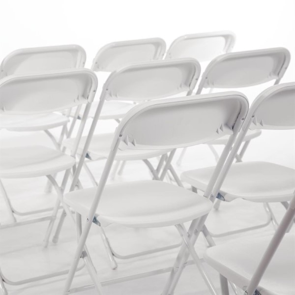 Bolero opklapbare stoel wit