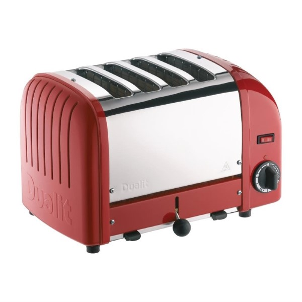Dualit Vario broodrooster 4 sleuven rood 40353