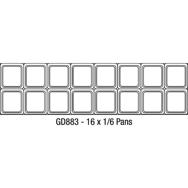 Polar U-serie 2-deurs gekoelde saladette 527L