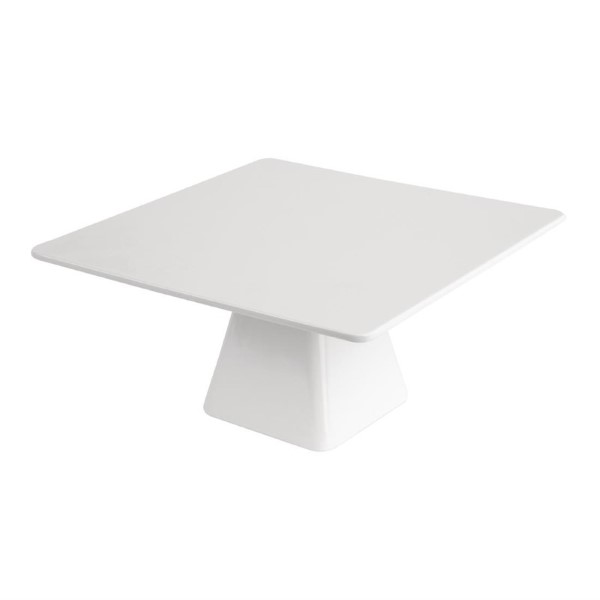Kristallon vierkante melamine taartstandaard 30x30cm hoog