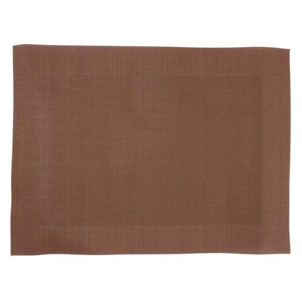 Olympia PVC geweven placemats bruin