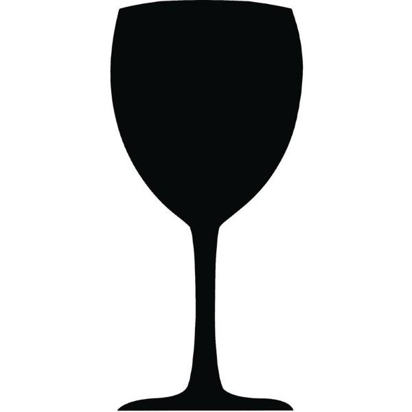 Securit krijtbord wijnglas