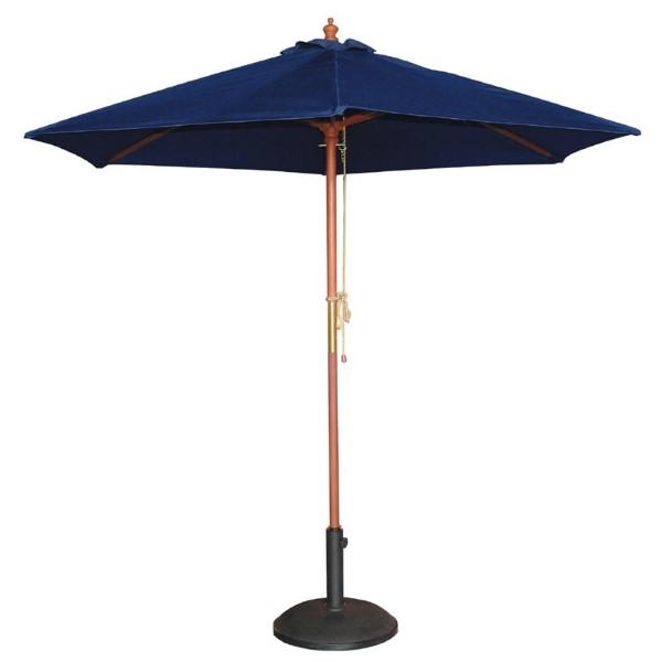 Bolero ronde donkerblauwe parasol 2,5 meter