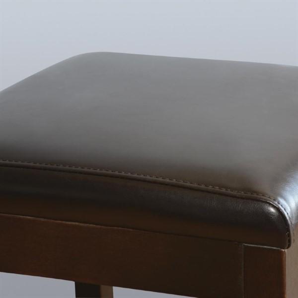 Bolero hoge kunstlederen barkruk zwart