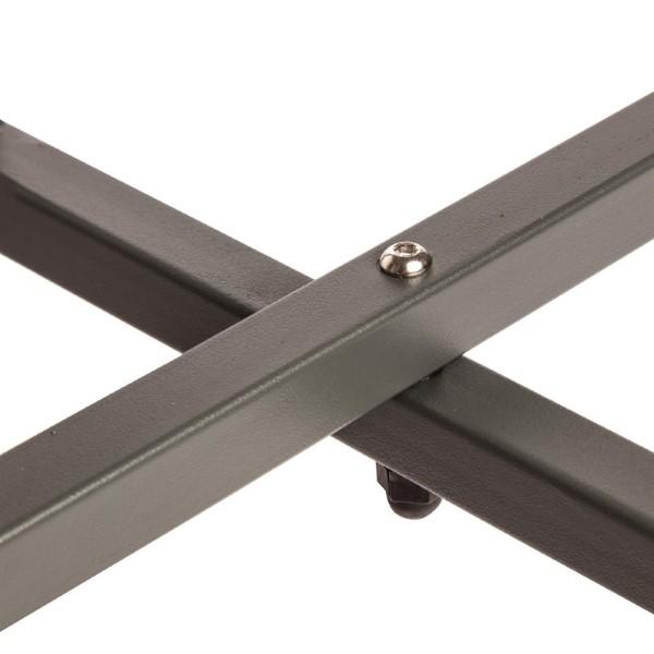Bolero ronde stalen bistrotafel grijs 60cm