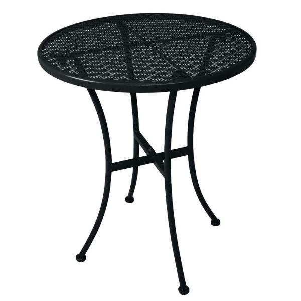 Bolero ronde stalen bistrotafel zwart 60cm