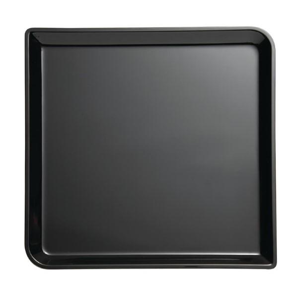 APS Buffet vierkante melamine schaal zwart 2x29x29cm zwart