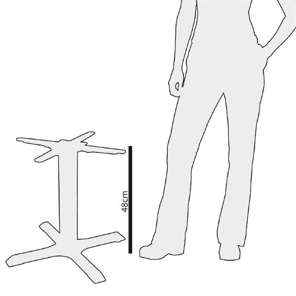 Bolero gietijzeren tafelpoot 48cm