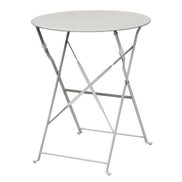 Bolero ronde stalen opklapbare tafel grijs 59,5cm
