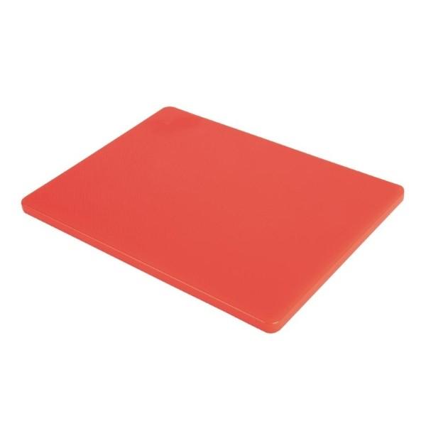 Hygiplas LDPE snijplank rood 30,5×22,9×1,2cm