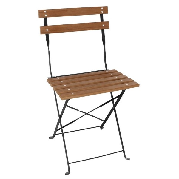 Bolero opklapbare imitatiehout stoelen