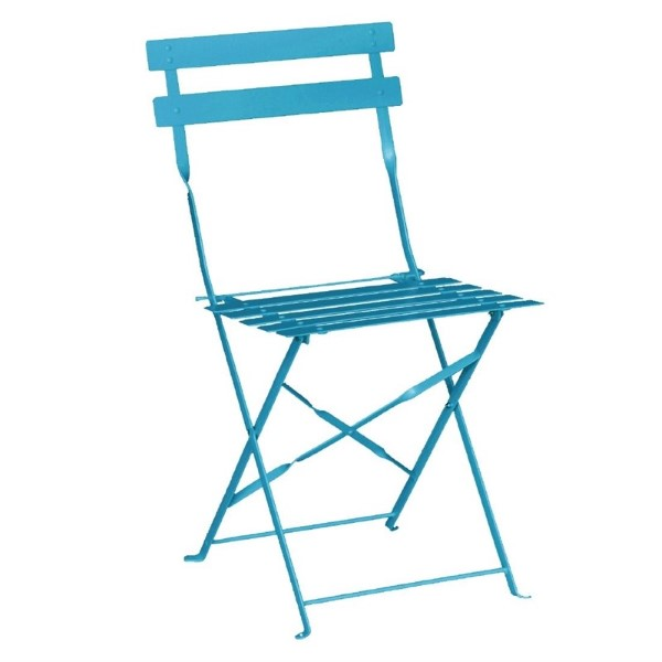 Bolero stalen opklapbare stoelen turquoise
