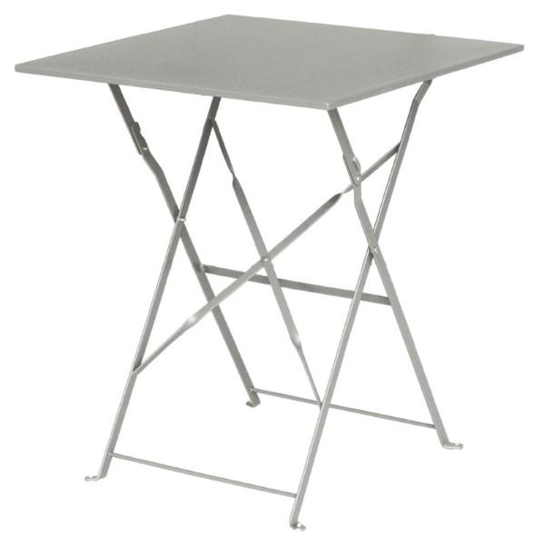 Bolero vierkante opklapbare stalen tafel grijs 60cm