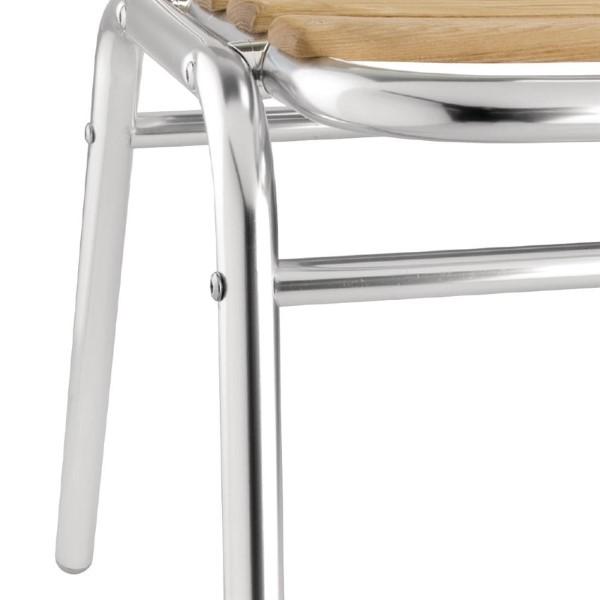 Bolero aluminium en essenhouten stoelen
