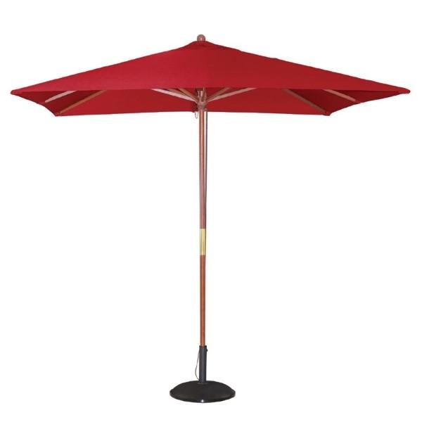 Bolero vierkante rode parasol 2,5 meter