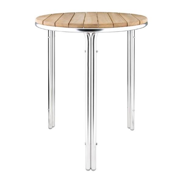 Bolero ronde essen en aluminium tafel 60cm