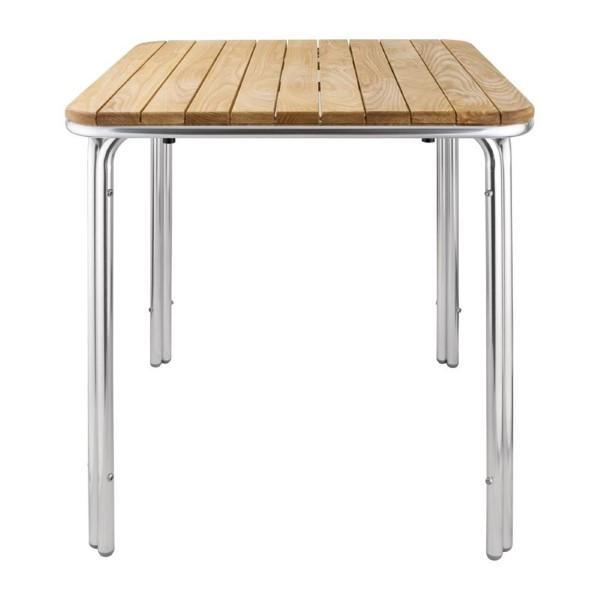 Bolero vierkante essen en aluminium tafel 70cm