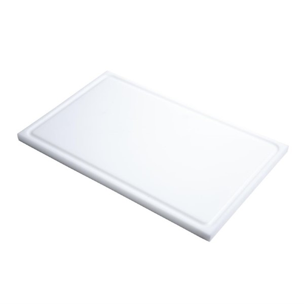 Gastro M GN1/1 HDPE snijplank met sapgeul wit