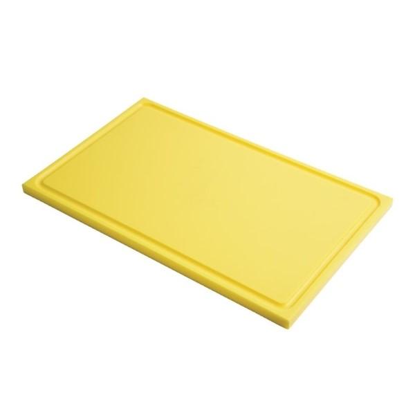 Gastro M GN1/1 HDPE snijplank met sapgeul geel