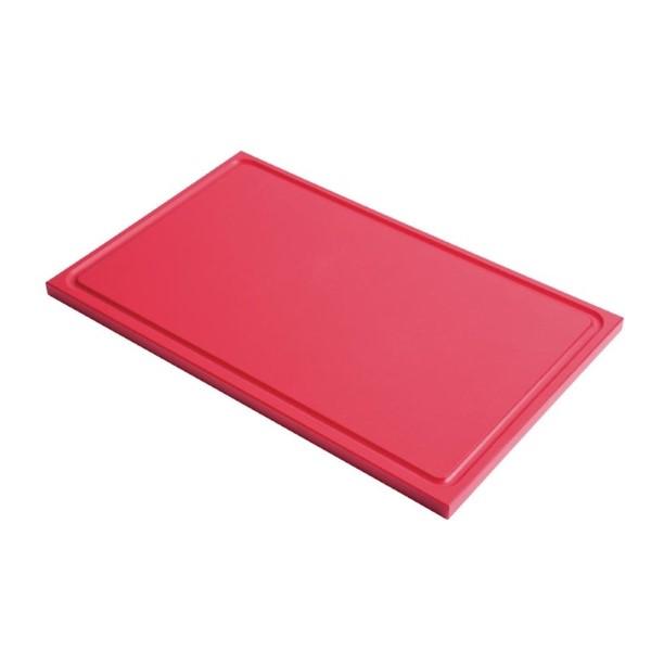 Gastro M GN1/1 HDPE snijplank met sapgeul rood