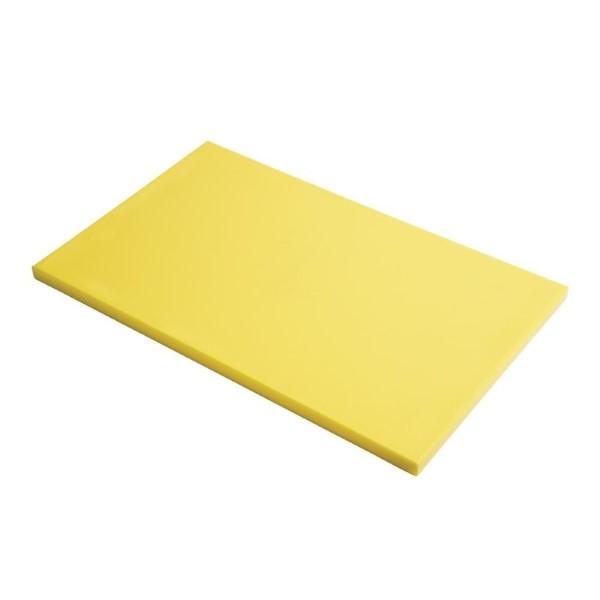 Gastro M GN1/1 HDPE snijplank glad geel