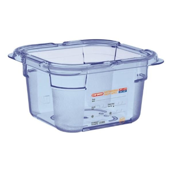Araven ABS blauwe GN 1/6 voedseldoos 10cm diep