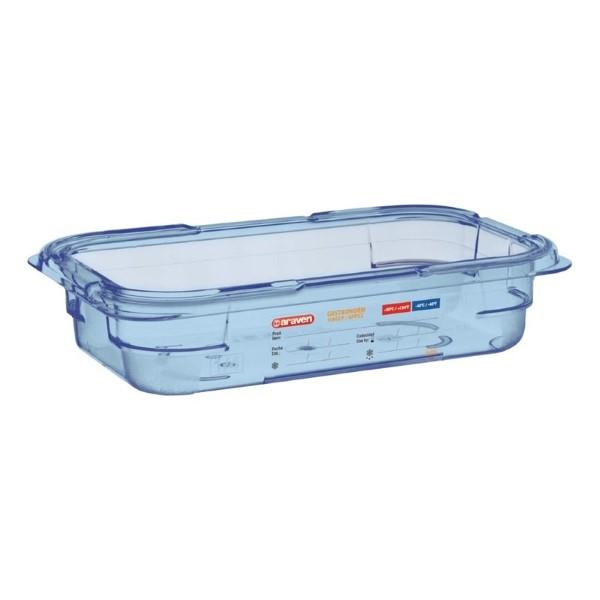 Araven ABS blauwe GN 1/4 voedseldoos 6,5cm diep