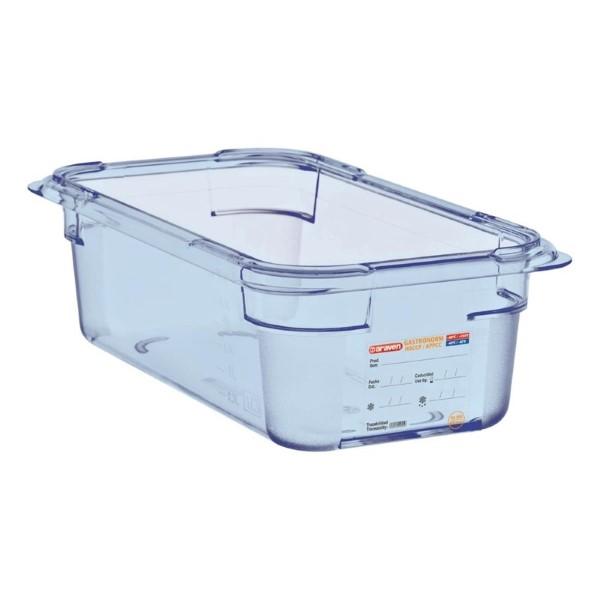 Araven ABS blauwe GN 1/4 voedseldoos 10cm diep