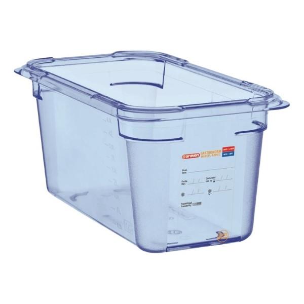Araven ABS blauwe GN 1/4 voedseldoos 15cm diep