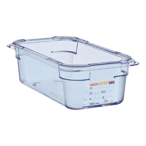 Araven ABS blauwe GN 1/3 voedseldoos 10cm diep
