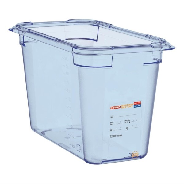 Araven ABS blauwe GN 1/3 voedseldoos 20cm diep