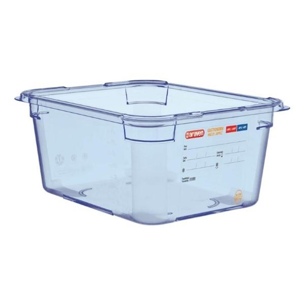 Araven ABS blauwe GN 1/2 voedseldoos 15cm diep
