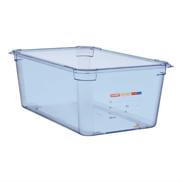 Araven ABS blauwe GN 1/1 voedseldoos 20cm diep