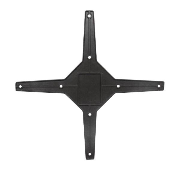 Bolero opklapbare aluminium tafelpoot zwart
