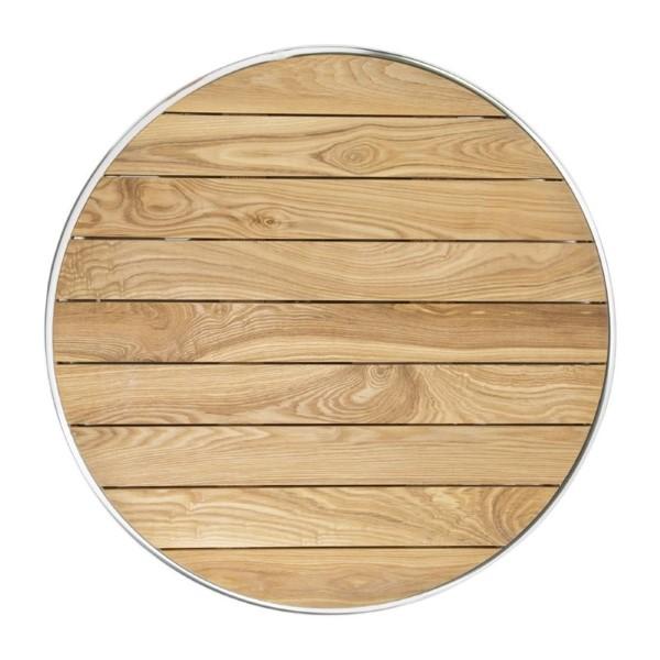 Bolero ronde statafel met essenhouten blad 60cm