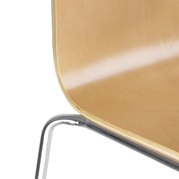 Bolero stoel met vierkante rug beuken - 4 stuks