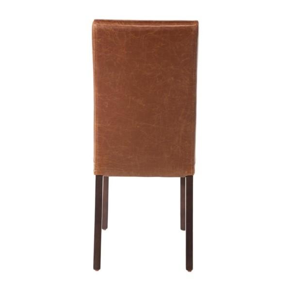 Bolero eigentijdse kunstlederen eetkamerstoel antiek bruin - 2 stuks