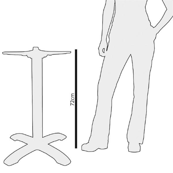 Bolero gietijzeren tafelpoot 72cm