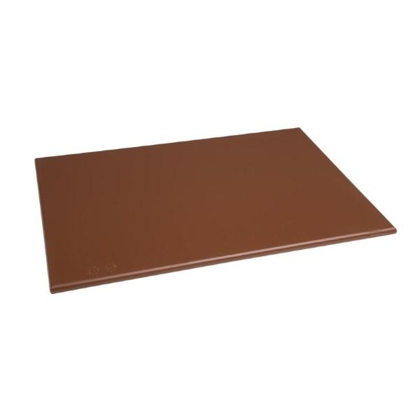 Hygiplas HDPE snijplank bruin 450x300x12mm