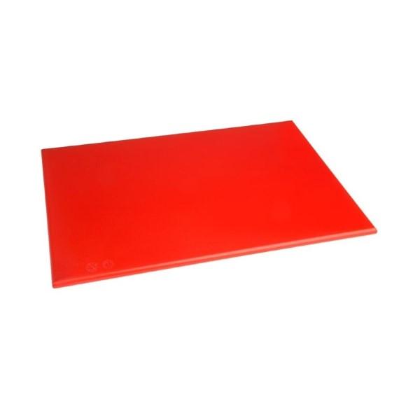 Hygiplas HDPE snijplank rood 450x300x12mm
