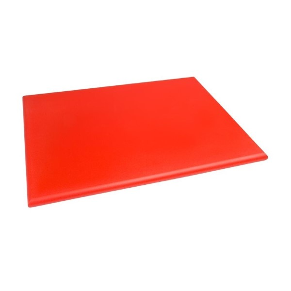 Hygiplas HDPE snijplank rood 600x450x25mm